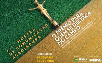 Últimos convites à venda para a principal premiação da comunicação do agronegócio, a Mostra Agro ABMRA