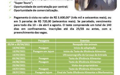 Últimos dias para a inscrição de animais na 2ª Prova de Eficiência e Performance Boi com Bula