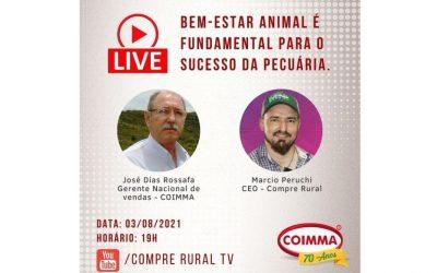 Bem-estar animal é tema de live da Coimma no dia 03.08