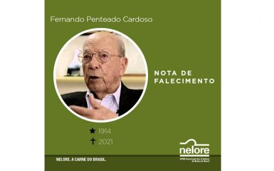Nelore lamenta falecimento de Fernando Penteado Cardoso, criador de Nelore Lemgruber e um dos maiores nomes do agronegócio brasileiro