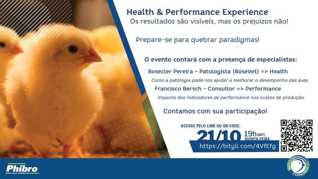 Phibro realiza evento gratuito sobre saúde e performance de aves, com especialistas